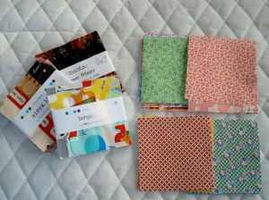 Examples of pre-cut charm squares