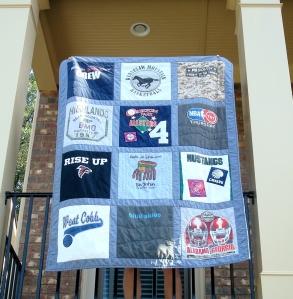 sports t-shirt quilt